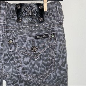 Miss Me Cheetah Print Signature Jeans